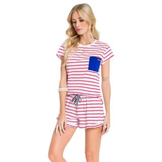 Pijama Feminino Short Doll Marinheira VEGGI