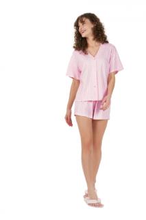 Pijama Feminino ShortDoll c/ Abertura de Botões Rosa Cor Com Amor