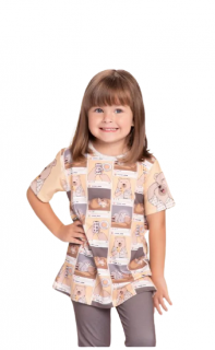 Pijama Infantil Manga Curta Meninas Instabear Lua Luá