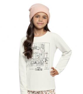 Pijama Infantil Menina Inverno Café e Biscoitos Cor Com Amor
