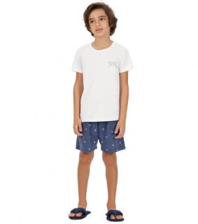 Pijama Infantil Menino Calor Verão Wi-Fi Cor Com Amor