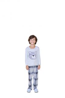 Pijama Infantil Menino Inverno Azul Lua Cheia