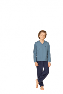 Pijama Infantil Menino Inverno Azul Pzama