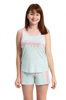 """Pijama Menina Infantil Regata """"Happy"""" (Feliz)"""