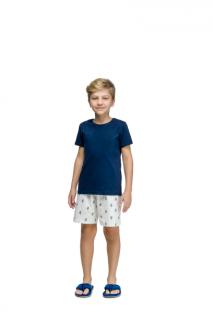 Pijama Menino Infantil Chinelinhos Azul Marinho