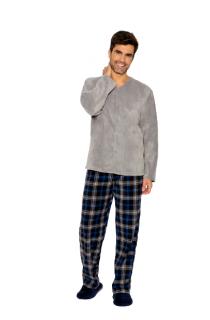 Pijama Masculino Inverno Fleece c/ Abertura de Botões AnyAny