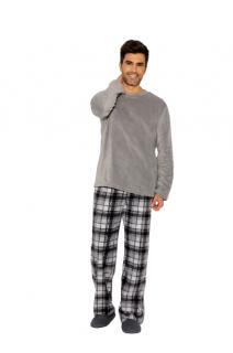 Pijama Masculino Inverno Fleece Chumbo AnyAny