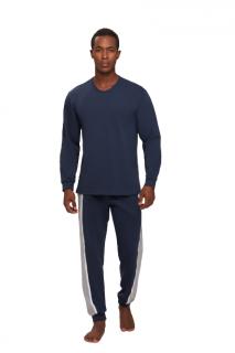 Pijama Masculino Inverno Moletinho Azul Recco