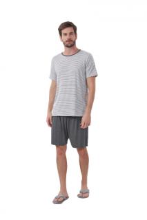 Pijama Masculino Manga Curta Listrado