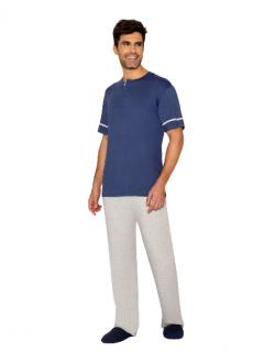 Pijama Masculino Outono Azul AnyAny