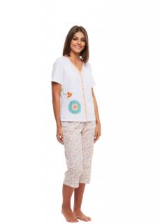 Pijama Pescador Abertura em Botões Floral
