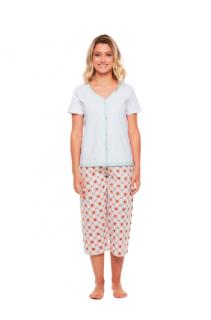 Pijama Pescador Em Algodão C/ Botões Sonhart