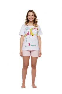 Pijama Short Doll Camisete Manga Curta Sonhart