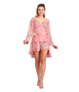 Pijama Short Doll Feminino Peach Amber Fruit de La Passion