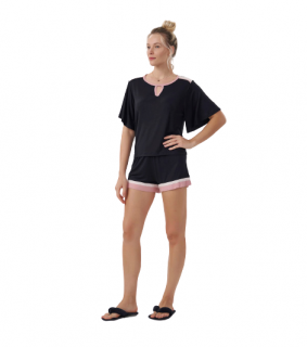 Pijama Feminino Short Doll Preto