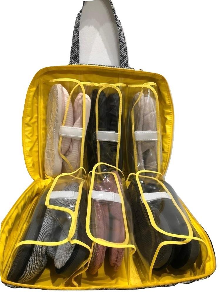 Bolsa Necessaire Sapateira de Viagem Multiuso c/ Espaço p/ 6 Sapatos