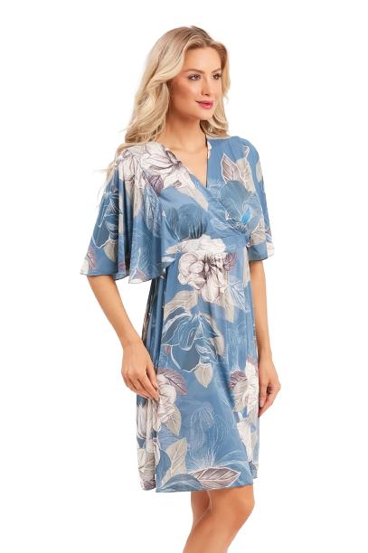 Camisola Caftan Azul Orquídea Recco