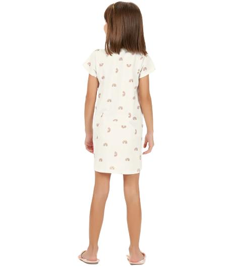 Camisola Infantil Meninas Arco Íris Cor Com Amor