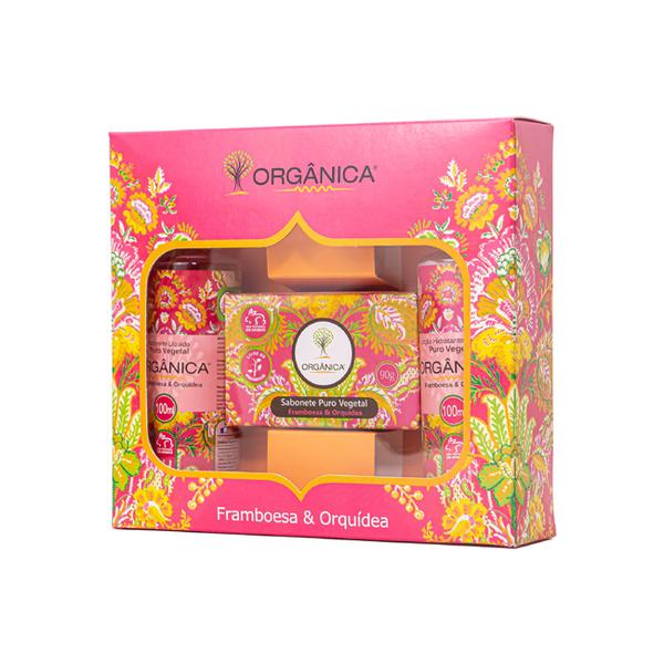 Kit Banho Savon Framboesa e Orquídea Orgânica