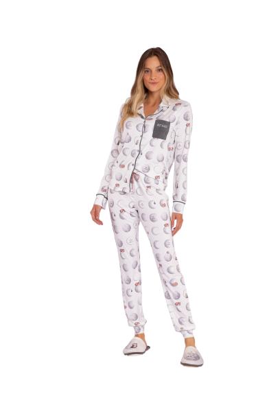Pijama Feminino Inverno A Moonment Lua Luá