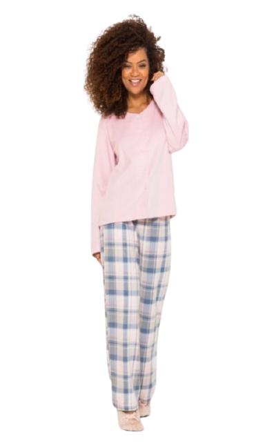 Pijama Feminino Inverno c/ Abertura de Botões AnyAny
