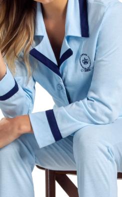 Pijama Feminino Inverno Cardigan com Calça Mixte TAMANHO: M