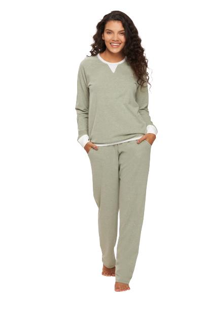 Pijama Feminino Inverno Comfort Verde Alecrim Recco