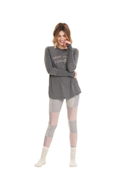 Pijama Feminino Inverno Enjoy Cor Com Amor
