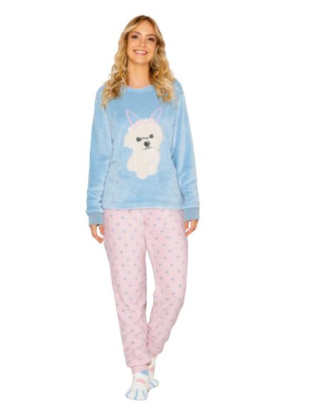 Pijama Feminino Inverno Fleece Bunny Dog AnyAny