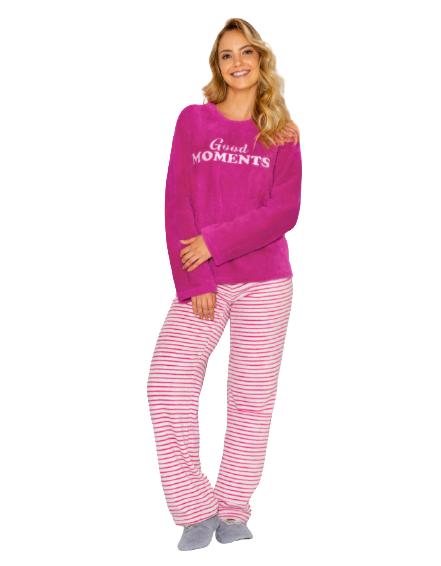 """Pijama Feminino Inverno Fleece """"Good Moments"""" AnyAny"""
