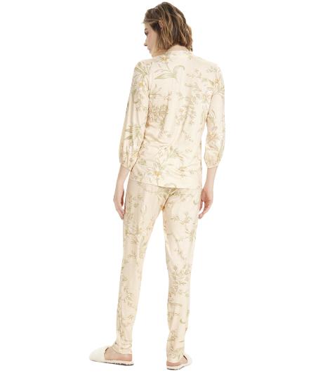 Pijama Feminino Inverno Flores Cor Com Amor
