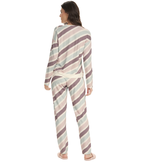 """Pijama Feminino Inverno """"Home"""" Cor Com Amor"""