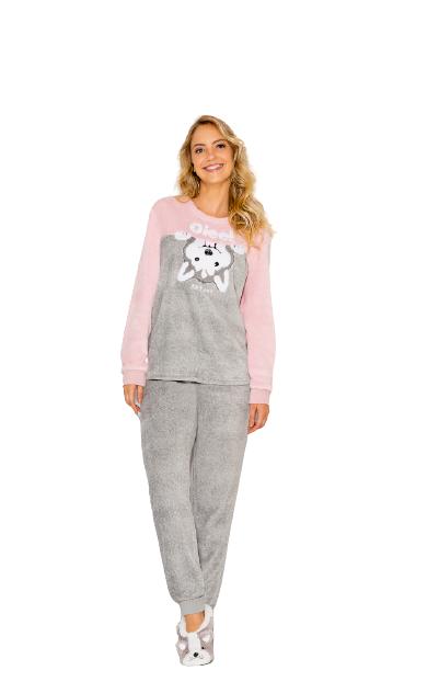"Pijama Feminino Inverno Husky ""Oie"" AnyAny"