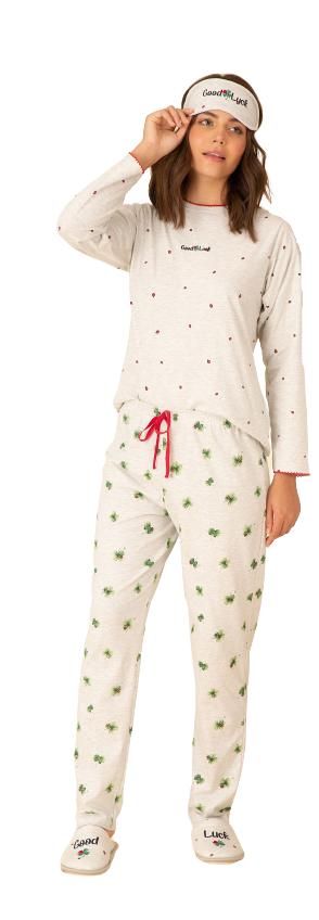 Pijama Feminino Inverno Joaninhas Pzama