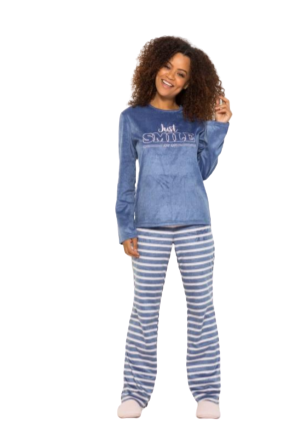 Pijama Feminino Inverno Marinho Soft AnyAny