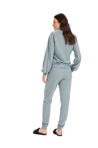 Pijama Feminino Inverno Moletom THINK/MOOD Cor Com Amor