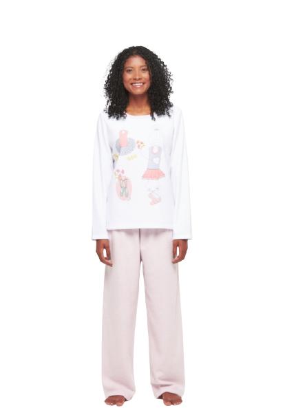 Pijama Feminino Inverno Plush Divertido Sonhart