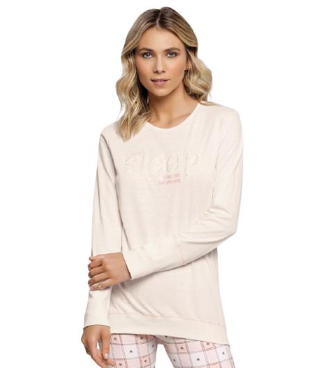 Pijama Feminino Inverno Rosa Candy Cor Com Amor