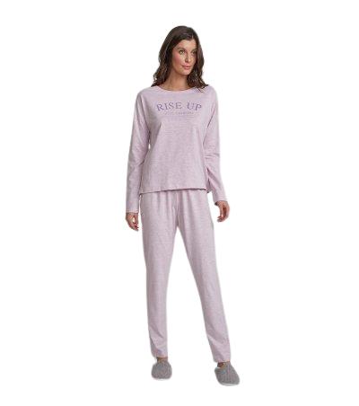Pijama Feminino Inverno Rosa e Lavanda Cor Com Amor
