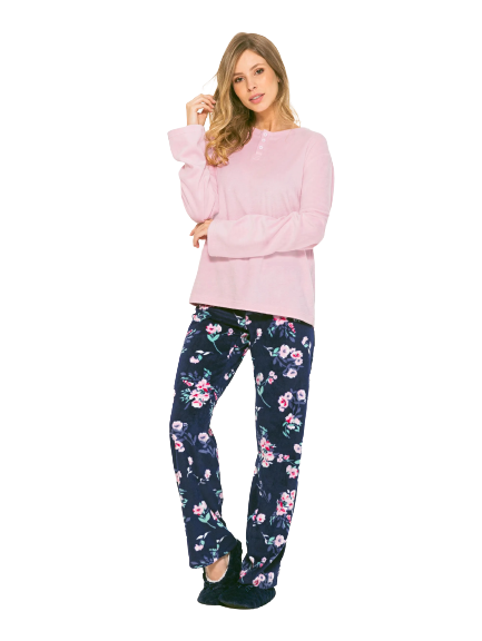 Pijama Feminino Inverno Soft Flores AnyAny