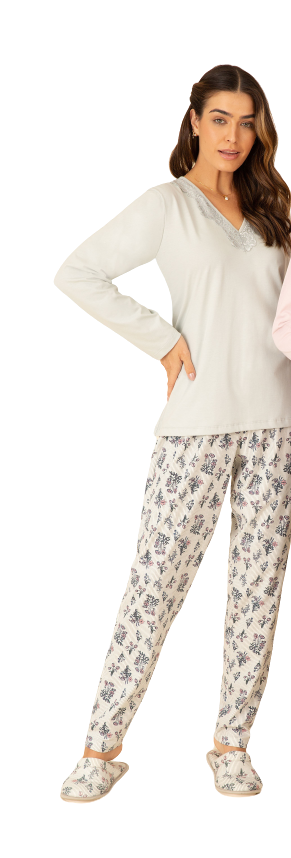 Pijama Feminino Inverno SORTE Pzama