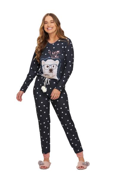 Pijama Feminino Inverno Urso Polar Recco