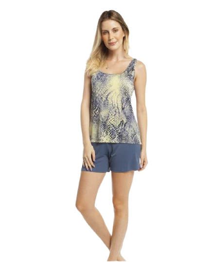 Pijama Feminino Short Doll Regata Cobra Inspirate