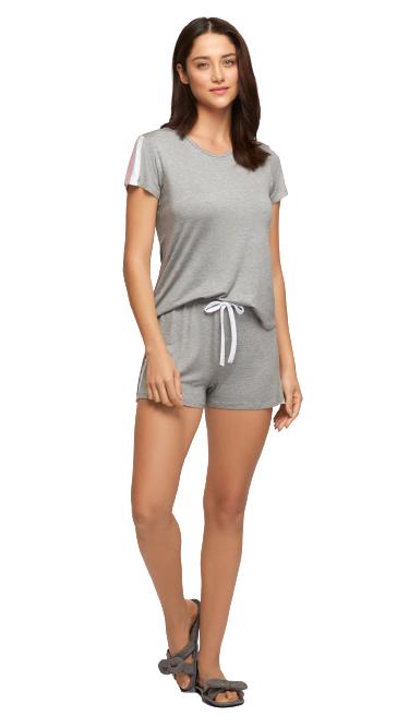 Pijama Feminino Curto Viscose Stretch Mescla Recco