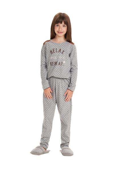 """Pijama Infantil Menina """"Relax"""" Mãe e Filha Cor Com Amor"""