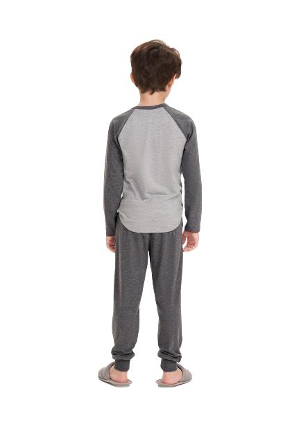 Pijama Infantil Menino Inverno Pai e Filho Cor Com Amor
