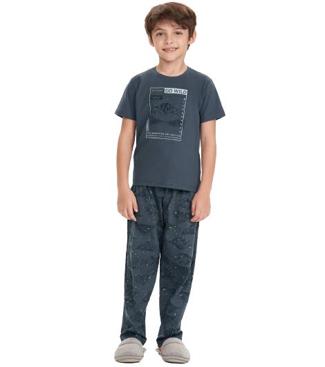 Pijama Infantil Menino Outono Cor Com Amor