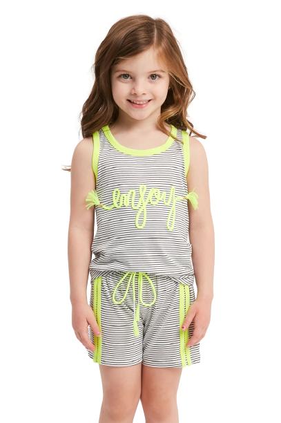 "Pijama Menina Infantil Regata ""Enjoy"" (Aproveite)"