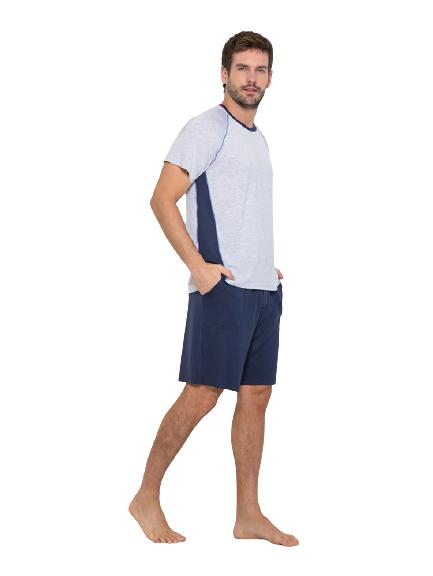 Pijama Masculino Azul com Listra