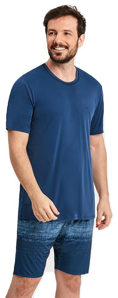 Pijama Masculino Microfibra Calor Azul Nautico Mares Recco
